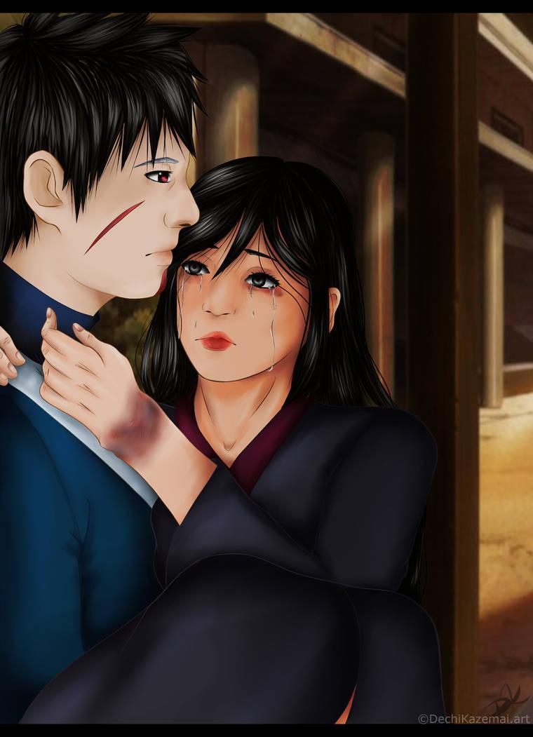 I  will take you to the hospital.(TobiramaxHanako) by Kazemye