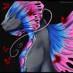 Dragon Butterfly... by Kazemye