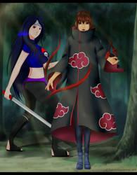 Takamy and Kazemai vs. enemy... by Kazemye