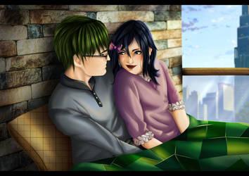 Midorima and Monika by Kazemye