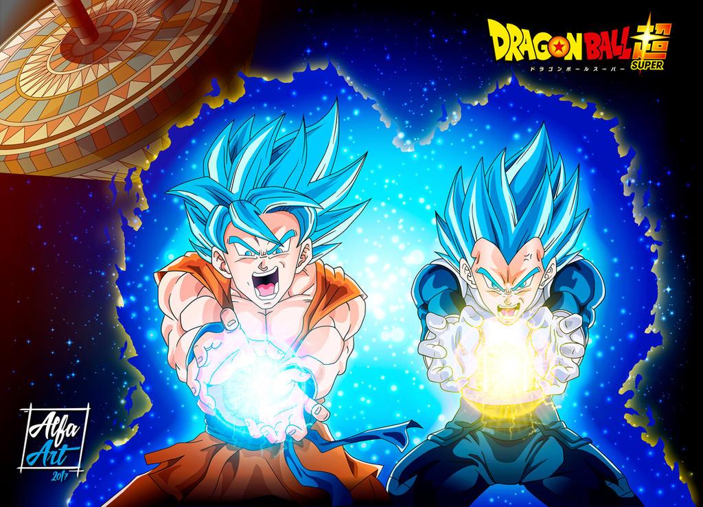 Goku En Kamehameha Y Vegeta Final Flash