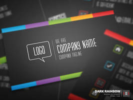 Dark Rainbow Business Card