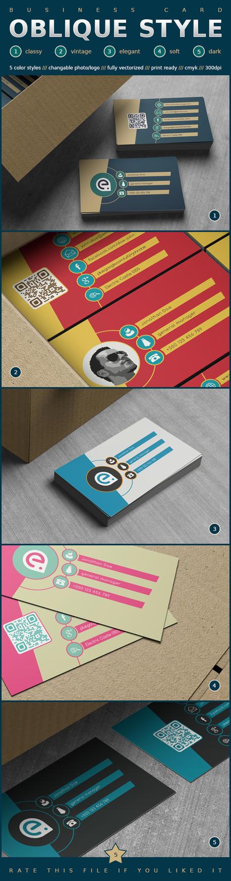 Oblique Style Business Card by EldiS82