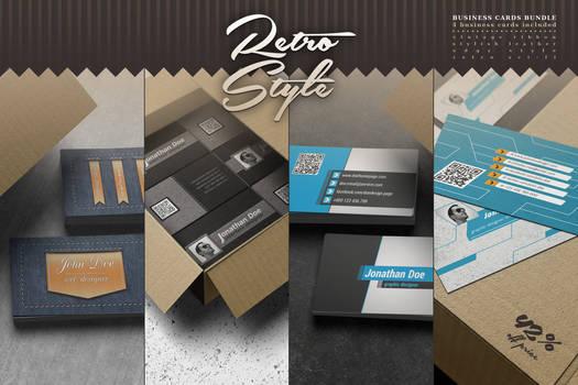 Retro Style Business Cards Bundle