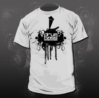 T-shirt design Drum and bass by xBroodrooster2x