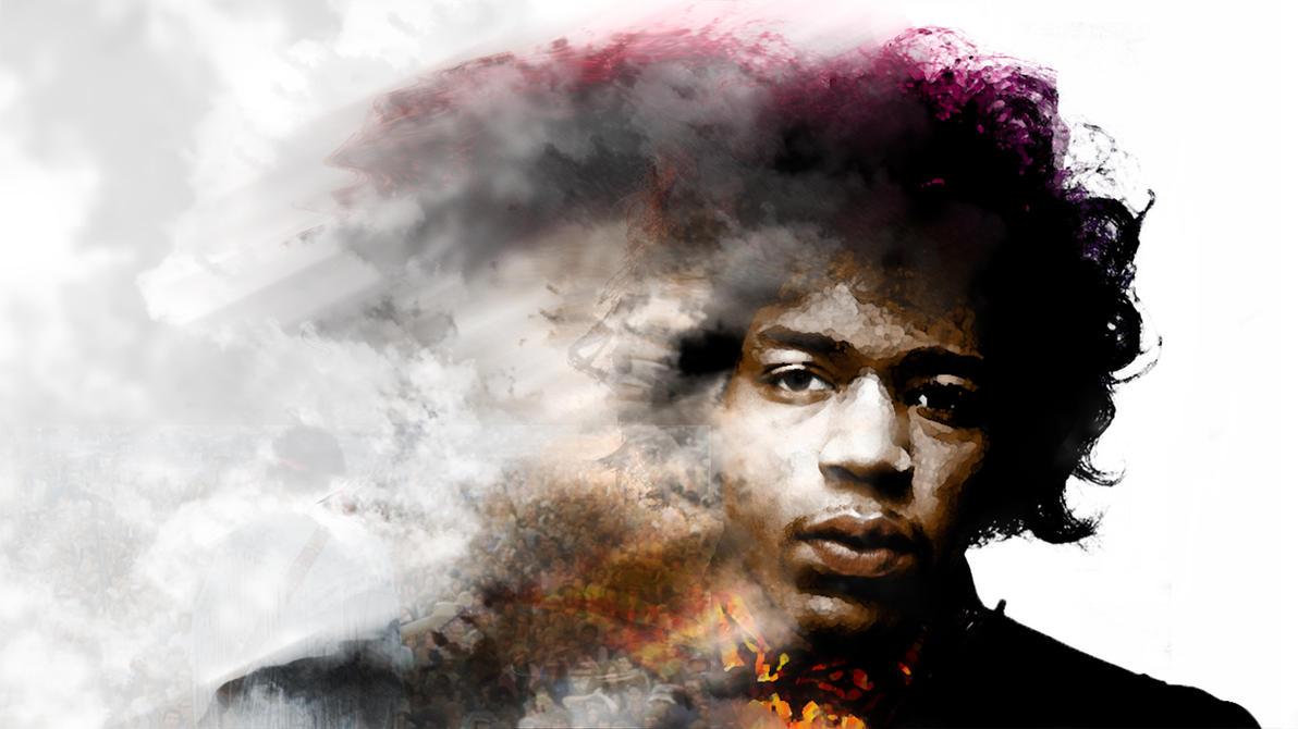 Jimi Hendrix wallpaper by Yomatty on DeviantArt