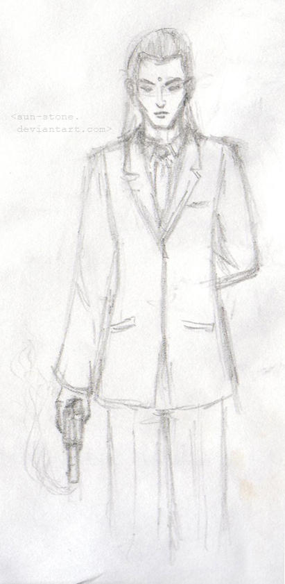 FFVII: Tseng sketch by sun-stone