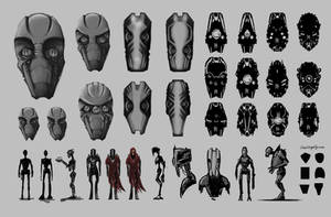 Dangerous Bounty Robo-Heads by nirryc