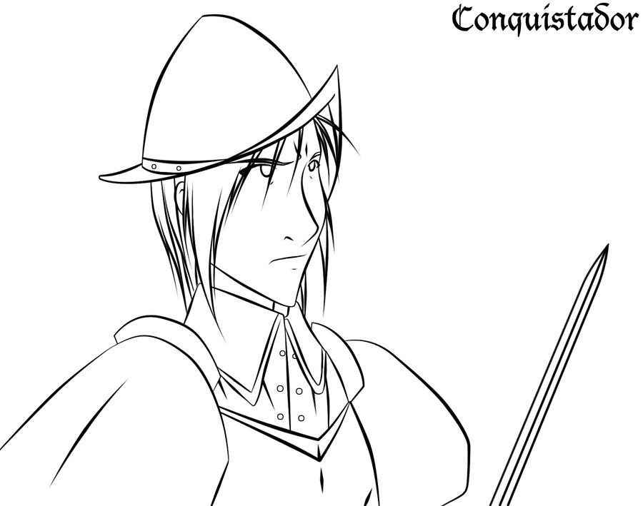 coloring pages of a conquistador - photo#18