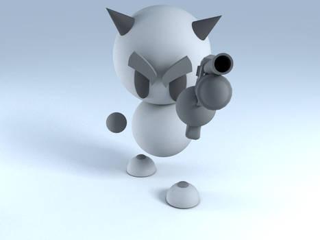 Fella in 3D - Gun Totin'