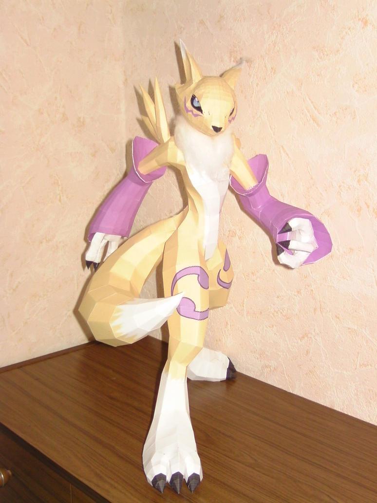 Digimon Renamon Papercraft by Saja-san