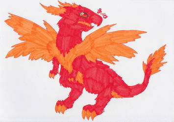 Dragon of the Fire Element by Saja-san