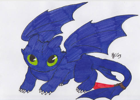 How to Train Your Dragon - Night Fury Toothless