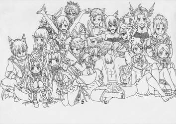 Aura Kingdom - Guild Nightcore Lineart by Saja-san