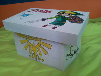 Wooden box with little Link by FoofyCakez