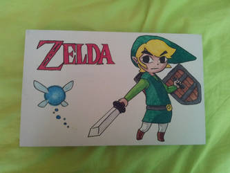 Wooden box with little Link: Upside by FoofyCakez