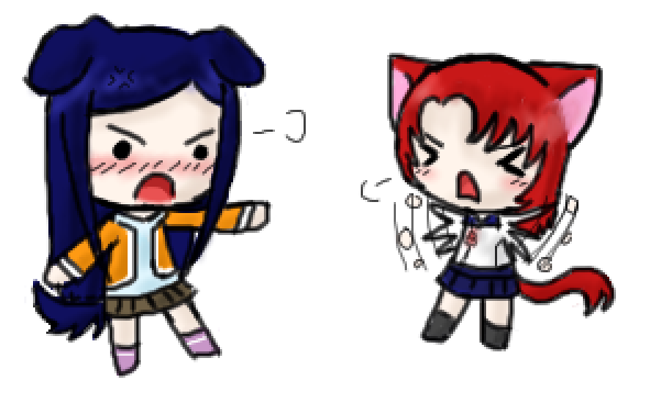 Mai HiME/Otome fanart not your own? Post em' here! * - Page 2 _Natsuki_and_Nao__by_Sorckylo