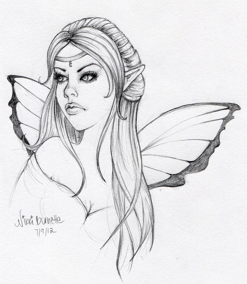 sad fairy coloring pages - photo#33