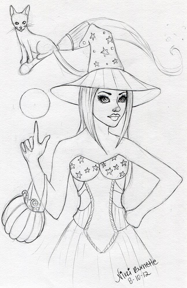 Witch Sketch by Aurella