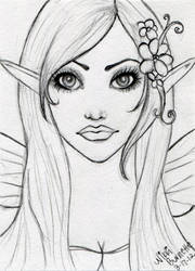 Fairy Elf ACEO Sketch