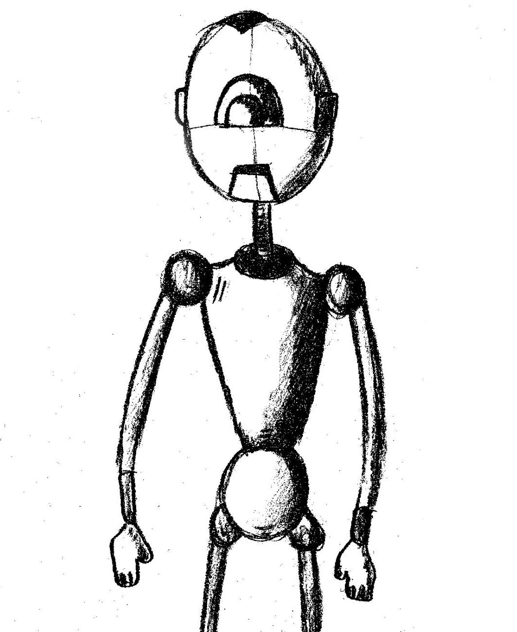 Robot sketch - Robot szkic by Exzhibit97