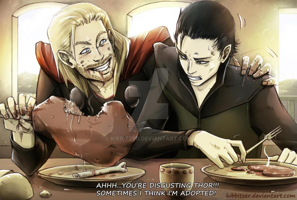 Thor-Loki: Sometimes I think I'm adopted by Kibbitzer