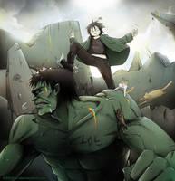 KIBBI vs HULK: how dare you smash Loki?? by Kibbitzer