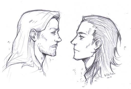 Thor- Loki sketch