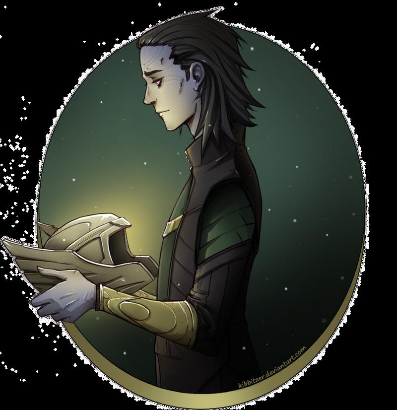 Loki: Holding the Thor's helmet by Kibbitzer on DeviantArt