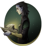 Loki: Holding the Thor's helmet