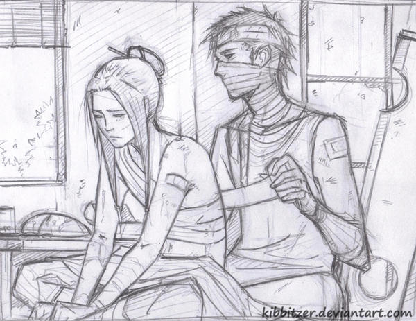 Zabuza and Haku - sketch by Kibbitzer
