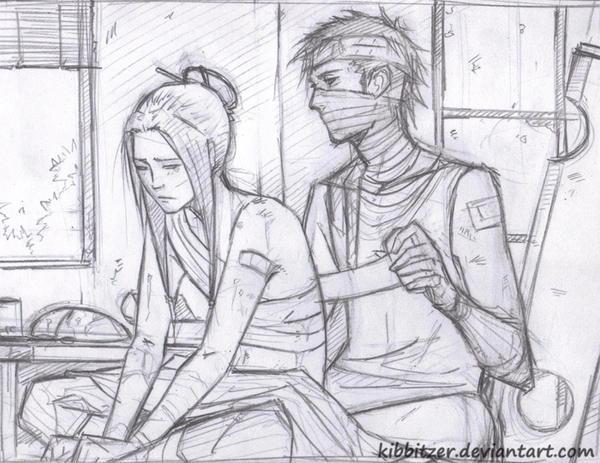 Zabuza and Haku - sketch by Kibbitzer