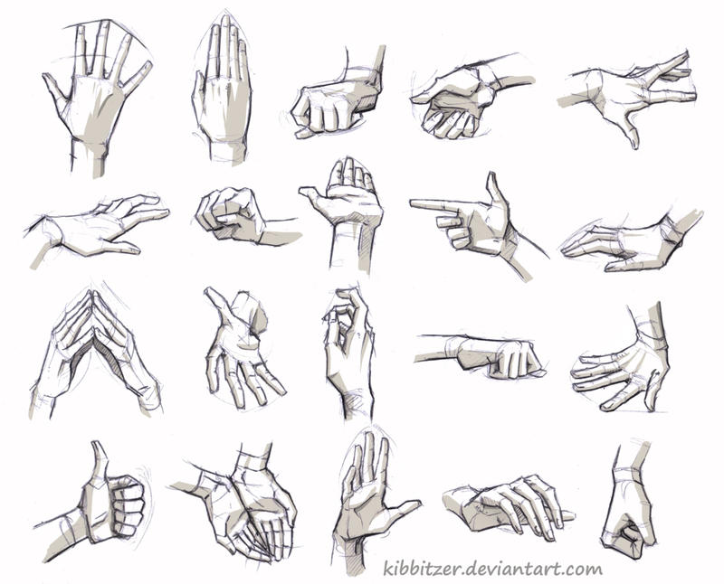 Hands Reference by Kibbitzer