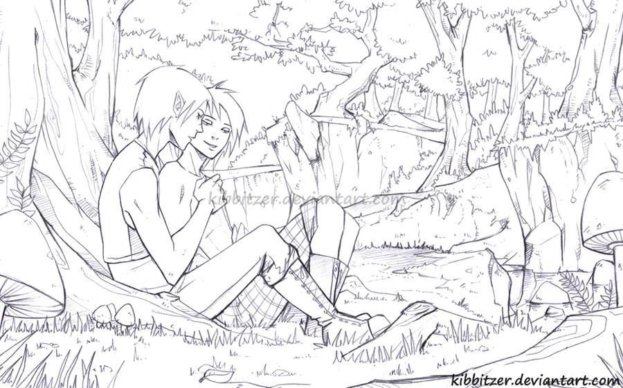 Forest sketch by Kibbitzer