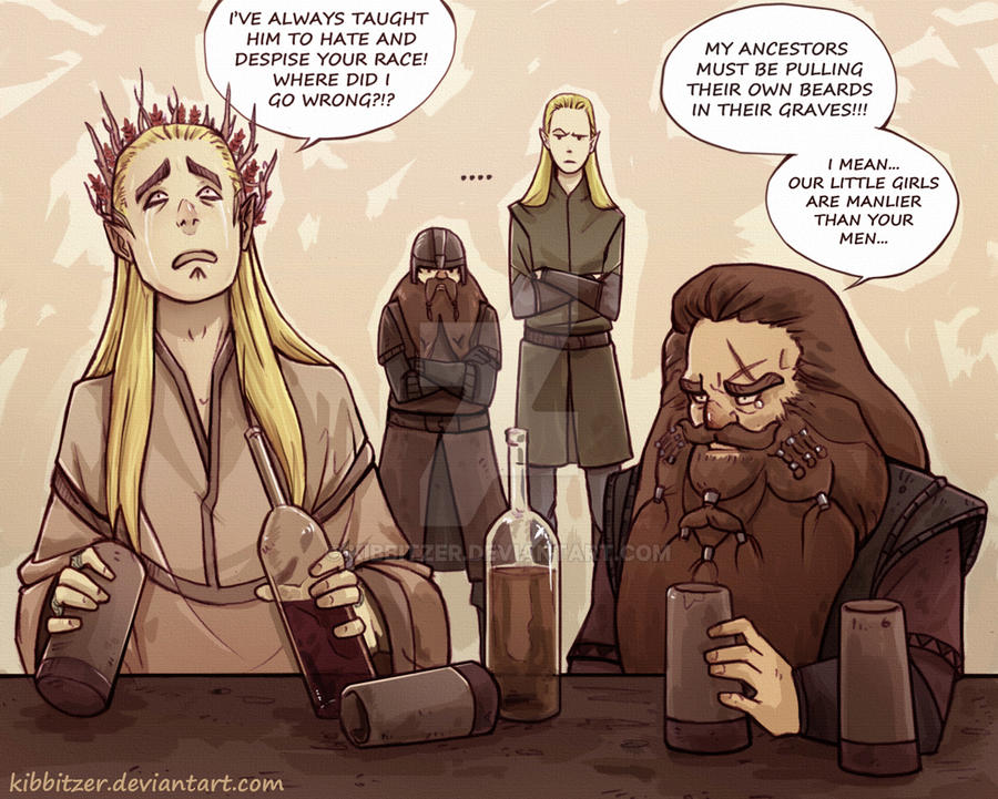 Thranduil and Gloin - RACIST DADDIES by Kibbitzer