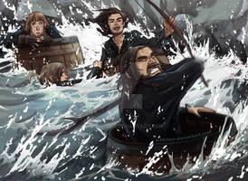 The Hobbit- BARREEEEEEEEEEEELS