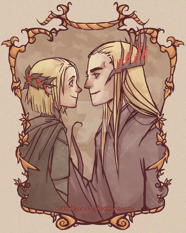 Thranduil and Legolas by Kibbitzer