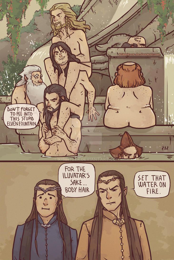 The Hobbit: Totem of naked hairy Dwarves by Kibbitzer