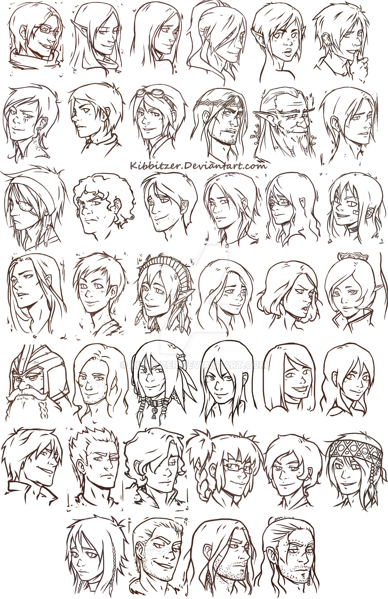 40 heads by Kibbitzer