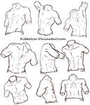 Male Torso Reference Sheet 2