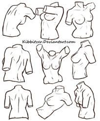 Female Torso Reference Sheet