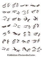 Eyes Reference Sheet by Kibbitzer