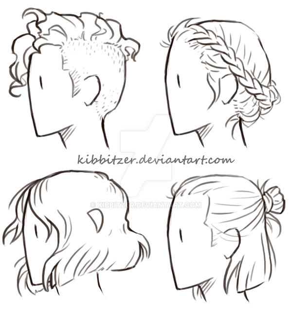 Short Hair Reference Sheet By Kibbitzer On Deviantart