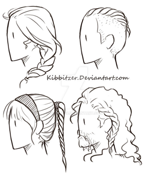 Girl Hairstyle Reference: Braids Reference Sheet By Kibbitzer On DeviantArt