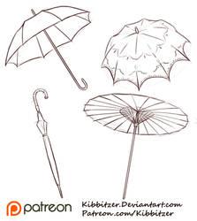 Umbrellas Reference Sheet by Kibbitzer