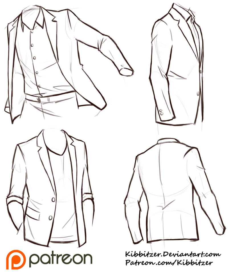 It is an image of Handy Suit Drawing Reference
