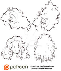 Curly Hair Reference Sheet 1