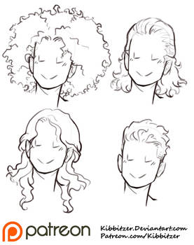 Curly Hair Reference Sheet 2