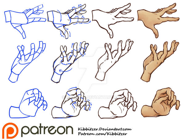 Hands Tutorial 2 by Kibbitzer on DeviantArt