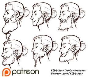 Beards reference sheet by Kibbitzer